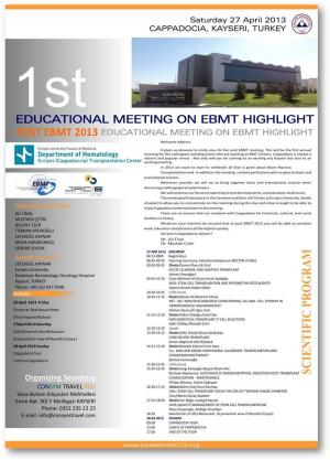 POST EBMT 2013 1st EDUCATIONAL MEETING ON  EBMT HIGHLIGHT  1st EDUCATIONAL MEETING ON  EBMT...